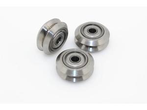 5pcs/lot v-slot CNC machine parts c-beam Aluminium Linear Extrusion Openbuilds stainless steel Metal Dual V Wheel for 3D printer