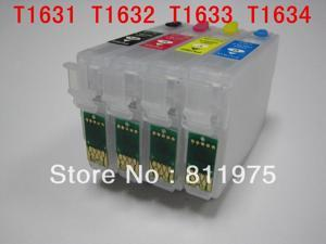 For epsonT1621-T1624 /T1631 -T1634Refillable ink cartridge For EPSON Workforce  WF-2530WF/WF-2540WF printers