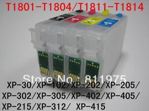 T1811-T1814 Refillable ink cartridge For Epson XP-30/XP-102/XP-202/XP-205/XP-302/XP-305/ XP-402  XP-405 XP-215 XP-312  XP-415