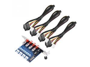 HDD Hard Drive Power Switch Module HDD Power Supply Switch with 4X 15pin SATA Power Supply Cable SATA Drive Switcher for Desktop PC Computer