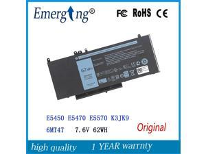 7.6V 62WH   Original  Laptop Battery for Dell Latitude E5450 E5470 E5570 K3JK9 6MT4T