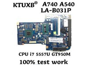 ZAA50/70 LA-B031P for Lenovo AIO A740 A540 all-in-one motherboard CPU i7 5557U GT950M 2G DDR3 100% test work
