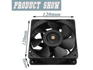 DC 12V 36W 120X120X38mm 6000RPM 4Pin Air Cooling Fan for Antminer Mining For CPU Cooler Liquid Cooler Computer