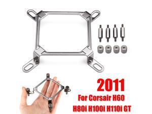 For Intel LGA 1150 1151 1155 2066 2011 CPU Water Cooler Mounting Bracket Hardware Kit For Corsair Hydro H60 H80i H100i H110i GT