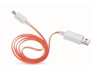 Dream Wireless Micro USB LED Cable - Retail Packaging - Red