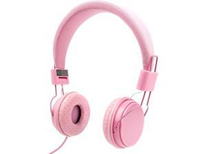 DURAGADGET Ultra-Stylish Kids Headphones with Microphone in Pink - Suitable for The Lenovo ideapad 310