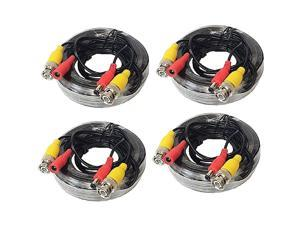 WennoW 4 Pack 25ft 4K All-in-One BNC Video Power Cables Extension Cord for CCTV Camera DVR