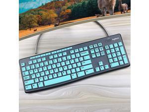 COSMOS Silicone Keyboard Cover Skin Protector for Logitech MK260 MK270 Keyboard