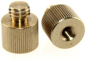2 Pack Impact Small 3//8 Female Threaded Adapter to 1//4-20 Male Threaded Post