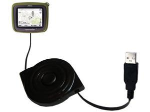 Compact and Retractable USB Power Port Ready Charge Cable Designed for The Magellan Crossover GPS 2500T and uses TipExchange