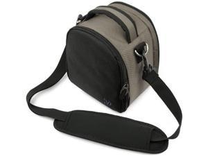Steel Grey DSLR Camera Case SLR Bag with Soft Liner Zippered Accessory Storage for Kodak WP1 AZ651 FZ201 SP1 SPZ1 S 1 SP360