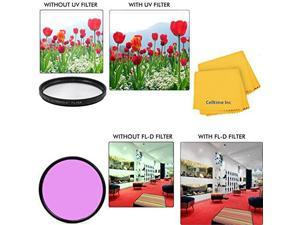 55mm Circular Polarizer Multi-Coated Filter and UV Protective Multi-Coated All-Purpose Filter for Sigma Zoom Normal-Telephoto 55-200mm f//4-5.6 DC Lenses CT Microfiber Cleaning Cloth