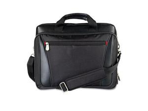 Laptop Business Case Nylon/Vinyl 15-1/4 x 4-1/2 x 12-1/4 Black