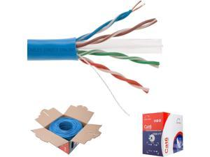 23AWG Bulk Ethernet Cable 060 Series Red Solid Bare Copper 550 MHz 1000ft UTP Vertical Cable Cat6