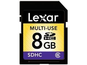 Lexar Multi-Use 8GB SDHC Flash Memory Card (LSD8GBASBNACL6)