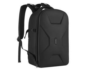 MOSISO Camera Backpack, DSLR/SLR/Mirrorless Photography Camera Bag Waterproof Hardshell Protective Case with Tripod Holder&Laptop Compartment Compatible with Canon/Nikon/Sony/DJI Mavic Drone, Black