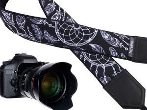 Bright Yellow DSLR//SLR Camera Strap with Paisley Motives Light Weight and Well Padded Camera Strap Durable Lucky Elephants Camera Strap Code 00167 Ethnic Camera Strap