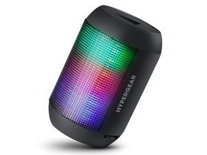 HyperGear Rave Mini Wireless Beat-Driven LED Lightshow Speaker. Best Multi-Function Portable Indoor Outdoor HD Stereo Bluetooth Speaker with Built-in Microphone, Hands Free Call, AUX Input [Black]