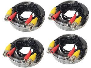 WennoW 4 Pack 30ft 4K All-in-One BNC Video Power Cables Extension Cord for CCTV Camera DVR