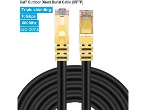 1M 3FT CAT7 Black STP LAN Direct Ethernet Network Cable Shielded 10Gbps 26AWG