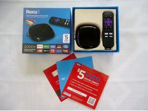 Roku 1 Streaming Player (Black) (Roku 2710RW) Special VUDU Edition with $5 VUDU credit