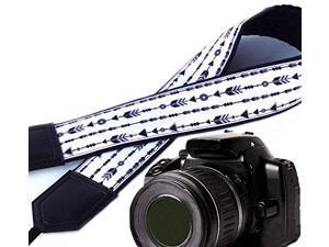 Durable Light Weight and Well Padded Camera Strap InTePro Vintage World map Camera Strap Code 00032 Black DSLR//SLR Camera Strap
