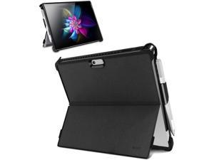 YENOCK Microsoft Surface Pro 7 / Pro 6 / Pro 5 / Pro 2017 / Pro 4 Case, All-in-One Shockproof Rugged Folio Stand Protective Cover with Kickstand Case+Pencil Holder, Compatible with Type Cove