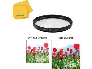CPL 58mm Circular Polarizer Multicoated Glass Filter Microfiber Cleaning Cloth for Canon VIXIA HF S30