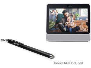 Facebook Portal Stylus Pen, BoxWave [EverTouch Capacitive Stylus] Fiber Tip Capacitive Stylus Pen for Facebook Portal - Jet Black