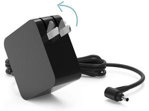 IdeaPad Laptop Charger 45W for Lenovo IdeaPad 310 320 330 330s 3 5 120s 120 130 130s 510 520 530s 710s ADP-45DW B ADL45WCC Flex 4 5 6 Yoga 710 510 Round Tip Power Supply AC Adapter (Foldable Plug)