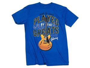 Gibson Gibson Played By The Greats Vintage T-Shirt X Large Bright Royal Blue