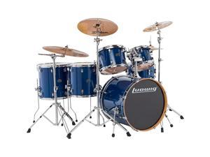 Ludwig Evolution Maple 6-Piece Shell Pack Transparent Blue
