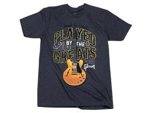 Gibson Gibson Played By The Greats Vintage T-Shirt Medium Charcoal