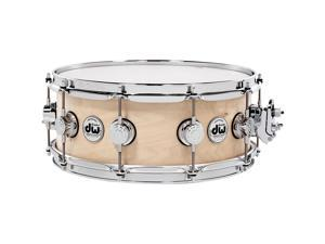 DW Collector's Series Satin Oil Snare Drum Natural with Chrome Hardware 14x5.5