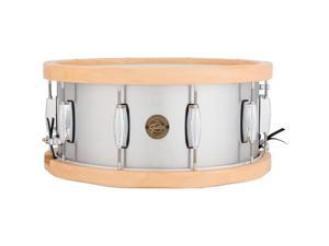 Gretsch Drums Gold Series Aluminum/Maple Snare Drum 14 x 6.5 Wood Hoop