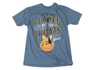 Gibson Played By The Greats Vintage T-Shirt XX Large Indigo Blue