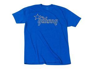 Gibson Star Logo T-Shirt Medium Blue