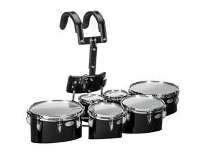 Sound Percussion Labs Birch Marching Sextets with Carrier 6/6/8/10/12/13 Black