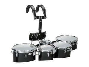 Sound Percussion Labs Birch Marching Quints with Carrier 6/8/10/12/13 Black