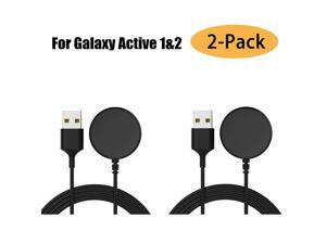 2-Pack Compatible with Samsung Galaxy Watch Active / Active 2 Charger Dock Wireless Charging Cable for Samsung Galaxy Active 1 / Active 2 Watch SM-R500 / SM-R820 / SM-R830