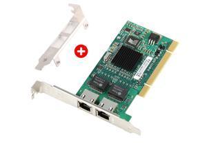 Gigabit Ethernet PCI Network Controller Card 10/100/1000Mbps Dual Port RJ45 Ethernet Adapter Converter for Desktop PC