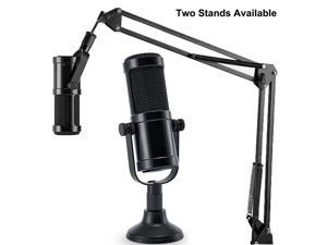 Werleo Desktop Condenser Mic Set Professional Studio Microphone for Recording Cardioid Condenser PC Mic Comes with Miniature Stand and Adjustable Mic Stand