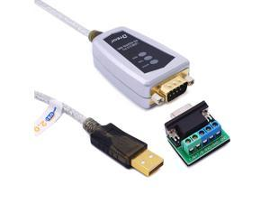 DTECH USB to RS422 RS485 Serial Port Converter Adapter Cable with FTDI Chip Supports Windows 10 8 7 XP and Macbook