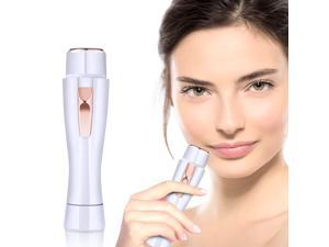 Facial Hair Remover for Women Painless Hair Removal Waterproof Shaver Electric Trimmer for Peach Fuzz Chin Hair Upper Lip Moustaches