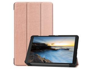 Compatible with Samsung Galaxy Tab A 8.0 2019 Case SM-T290 / T295 / T297 Shockproof Folio Stand Cover PU Leather Holster Tablet Protective Case with Kickstand