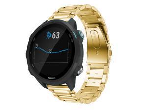 Werleo Compatible for Garmin Vivoactive 3 Watch Band 20mm Stainless Steel Watch Strap for Garmin Forerunner 645 / Forerunner 245 / Samsung Galaxy Watch 42mm / Galaxy Watch Active 40mm Smart Watch