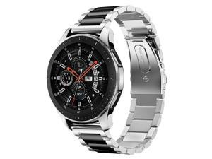 Metal Bands Compatible Galaxy Watch 46mm / Gear S3 Frontier / Classic Watch Band 22mm Stainless Steel Replacement Bracelet Wrist Strap for Galaxy Watch 46mm SM-R800 / Gear S3 Smartwatch