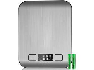 Digital Scale Kitchen Scale Multifunction Digital Kitchen Food Scale Weight Scale Grams and Oz Stainless Steel Backlight High Precision Small Size