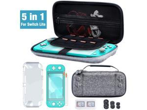 Switch Accessories Bundle for Nintendo Switch Lite Switch Carry Case 2 pcs Screen Protector Switch Cover Case 6 Pcs Joystick Caps Game Card Case for Nintendo Switch Lite Accessories Kit