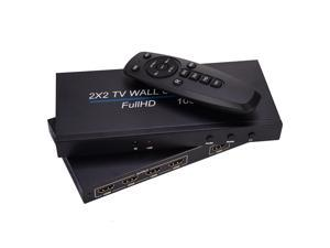 Video Wall Controller Multi-function 4 Channel TV Video Wall Controller 2x2 Wall Processor 1080p TV Image Splicing Controller